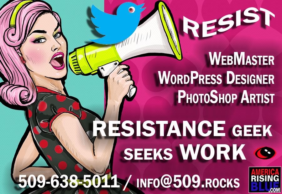 America Rising BLUE, Gaia Capitalist, WebMaster seeks work.